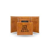 Arizona University Laser Engraved Brown Trifold Wallet