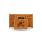Avalanche  Laser Engraved Brown Trifold Wallet