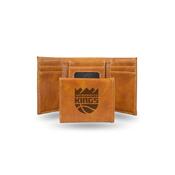 Kings - Sac Laser Engraved Brown Trifold Wallet