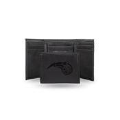 Magic Laser Engraved Black Trifold Wallet