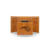 Magic Laser Engraved Brown Trifold Wallet