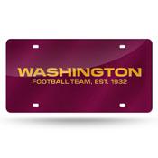 Washington Football Team Colored Laser Cut Auto Tag