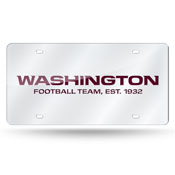 Washington Football Team Silver Laser Cut Tag