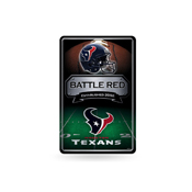 Texans 11X17 Large Embossed Metal Wall Sign