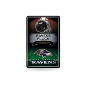 Ravens 11X17 Large Embossed Metal Wall Sign