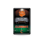 Clemson 11X17 Large Embossed Metal Wall Sign