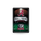 Alabama University 11X17 Large Embossed Metal Wall Sign