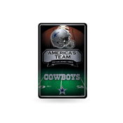 Cowboys 11X17 Large Embossed Metal Wall Sign