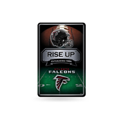 Falcons 11X17 Large Embossed Metal Wall Sign