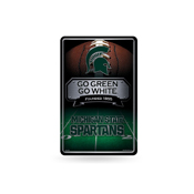 Michigan State 11X17 Large Embossed Metal Wall Sign