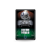 Colts 11X17 Large Embossed Metal Wall Sign