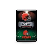 Browns 11X17 Large Embossed Metal Wall Sign