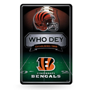 Bengals 11X17 Large Embossed Metal Wall Sign