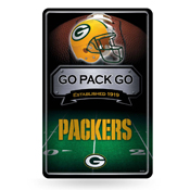 Packers 11X17 Large Embossed Metal Wall Sign
