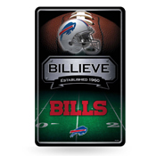Bills 11X17 Large Embossed Metal Wall Sign