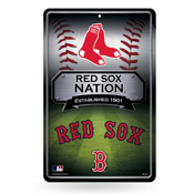 Red Sox 11X17 Large Embossed Metal Wall Sign