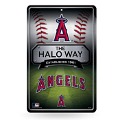 Angels 11X17 Large Embossed Metal Wall Sign