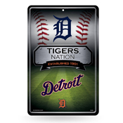 Tigers 11X17 Large Embossed Metal Wall Sign
