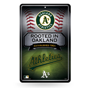 Athletics 11X17 Large Embossed Metal Wall Sign