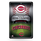 Reds 11X17 Large Embossed Metal Wall Sign