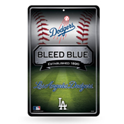 Dodgers 11X17 Large Embossed Metal Wall Sign