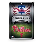 Phillies 11X17 Large Embossed Metal Wall Sign