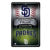 Padres 11X17 Large Embossed Metal Wall Sign