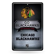 Chicago Blackhawks 11X17 Large Embossed Metal Wall Sign