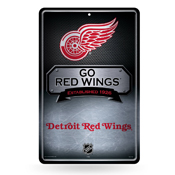 Red Wings 11X17 Large Embossed Metal Wall Sign