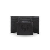 WILDLIFE - PERSONALIZED SKULL LASER ENGRAVED TRIFOLD WALLET