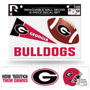 Georgia University Removable Wall Decor Set (8.5