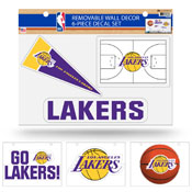 Lakers Removable Wall Decor Set (8.5