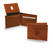 Atlanta Falcons Genuine Leather Embossed Pecan Billfold Wallet