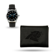 Panthers - Cr Sparo Black Watch And Wallet Gift Set