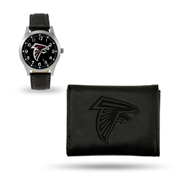 Falcons Sparo Black Watch And Wallet Gift Set