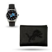 Lions Sparo Black Watch And Wallet Gift Set