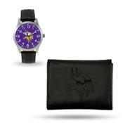Vikings Sparo Black Watch And Wallet Gift Set
