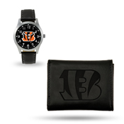 Bengals Sparo Black Watch And Wallet Gift Set