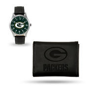 Packers Sparo Black Watch And Wallet Gift Set