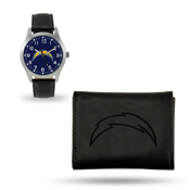 Chargers Sparo Black Watch And Wallet Gift Set