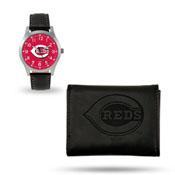 Reds Sparo Black Watch And Wallet Gift Set