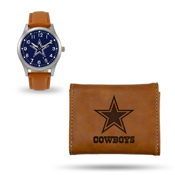 Cowboys Sparo Brown Watch And Wallet Gift Set