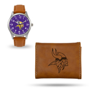 Vikings Sparo Brown Watch And Wallet Gift Set