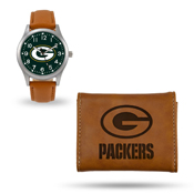Packers Sparo Brown Watch And Wallet Gift Set