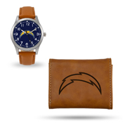 Chargers Sparo Brown Watch And Wallet Gift Set
