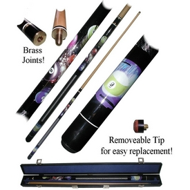 9 Ball Galaxy Billiard 2 Piece Pool Cue Stick