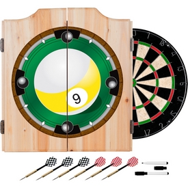 9-Ball Dart Cabinet includes Darts and Board