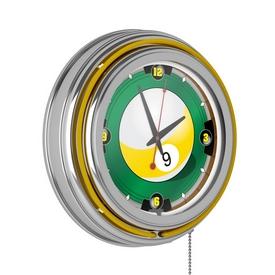 9-Ball 14-inch Neon Wall Clock