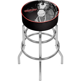 Budweiser Padded Swivel Bar Stool - Clydesdale Black