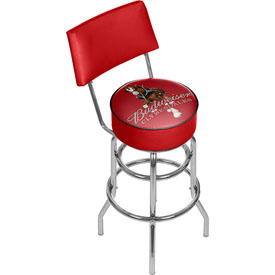 Budweiser Swivel Bar Stool with Back - Clydesdale Red
